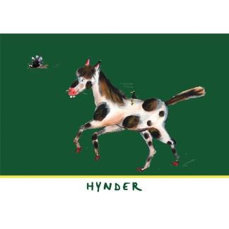 "kaart hynder uit de serie, 5 Friese kinderkaarten ""Op de boerderij"""