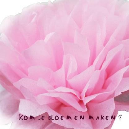 Rose papieren roos leren vouwen workshop