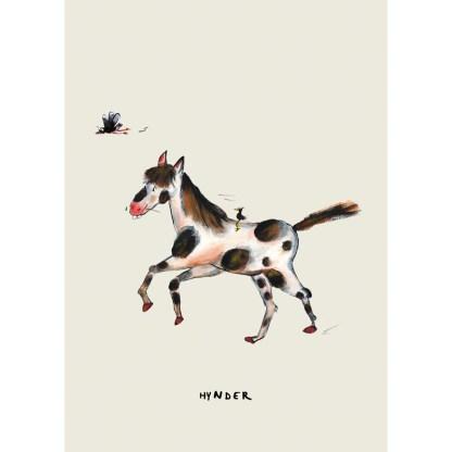 poster stippel paard 20x30 voor de kinderkamer van atelier Pjut Leeuwarden