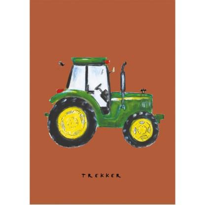 Poster 20x30 van John Deere illustratie. Mooi voor kinderkamer met thema op de boerderij