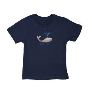 -shirt met walvis van biologisch katoen voor kinderen van 2 tot 6 j
