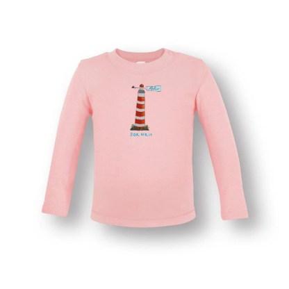 babyshirt met de vuurtoren van Ameland. van biologisch katoen