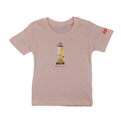Zacht rose T-shirt Brandaris voor kinderen. Gemaakt van biologisch katoen