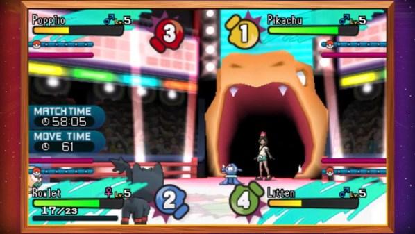 「ポケモン サン ムーン」に新登場する、バトルロイヤルが紹介されているアメリカ版の動画