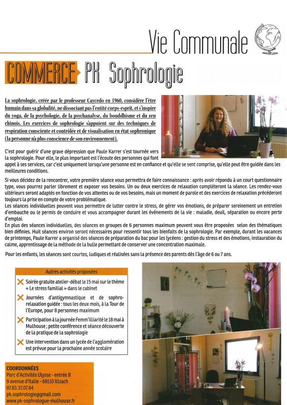 Cabinet PK Sophrologie : magazine Illzach numéro 8 mai 2019