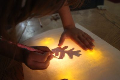 DIY Light Table Tracing for Preschoolers