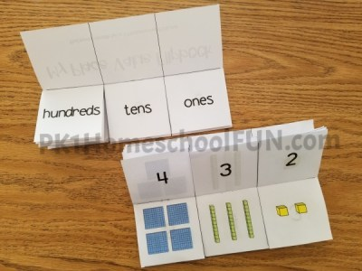 Free printable place value flip book for kindergarten and first grade