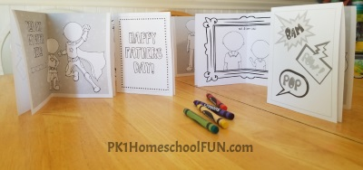 Print Fathers Day Cards For Your Kids To Color Free Printables Super Hero Fathers Day Cards