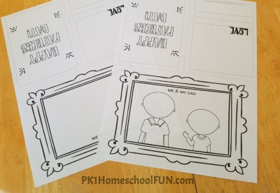 Free Printable Fathers Day Cards Your Kids Can Color and Draw Faces