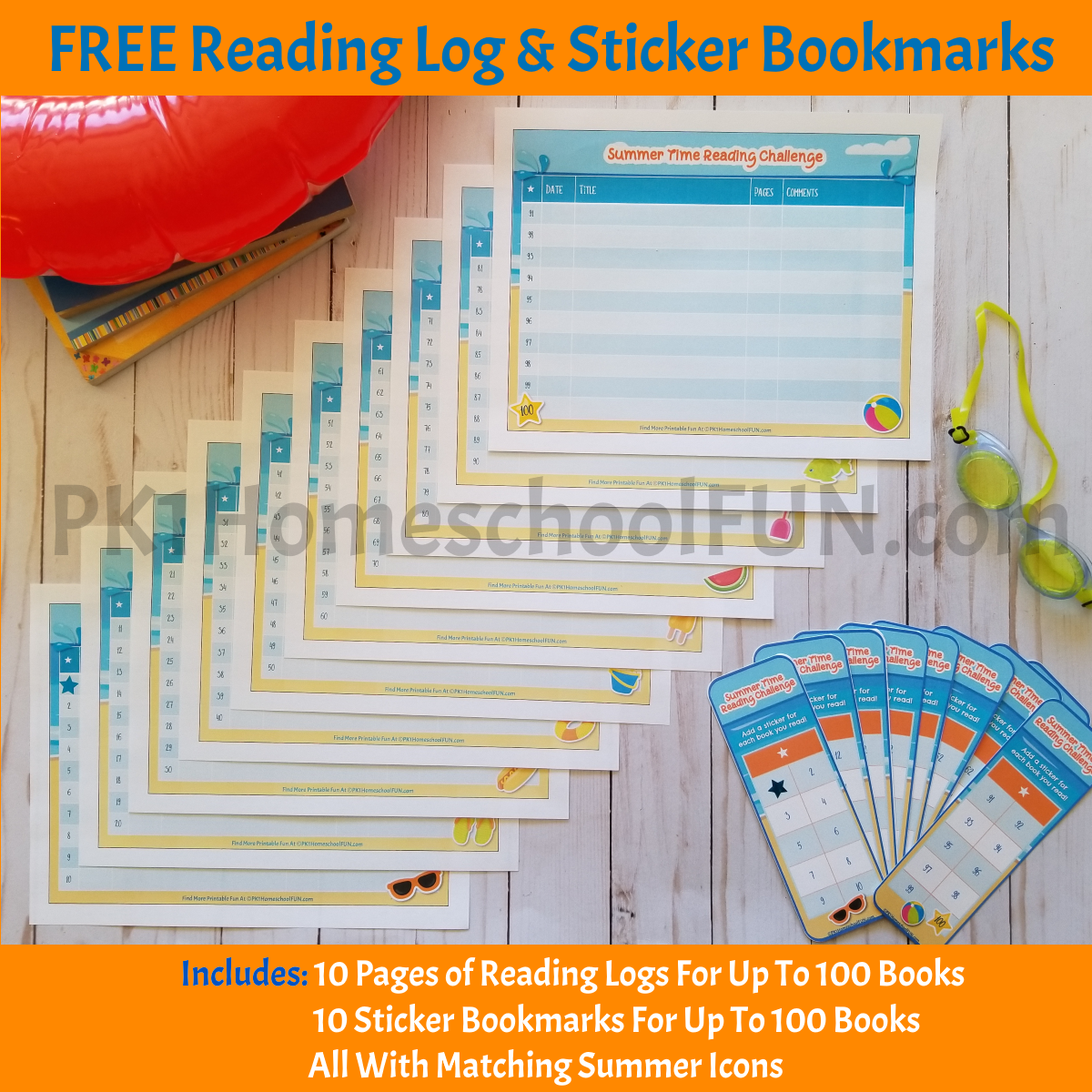 Inspire some fun summer reading with these adorable summer reading challenge printables. Great for a 100 Book Challenge or less, these free printables will add some fun to your child's summer reading goals.