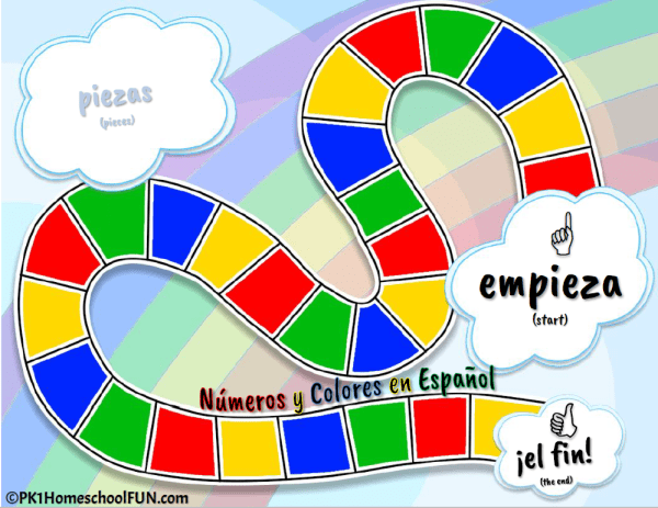 Learn numbers and colors in Spanish. Perfect for beginning Spanish learners, preschool, kindergarten & first grade Spanish games.