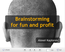 Brainstorming for fun and profit