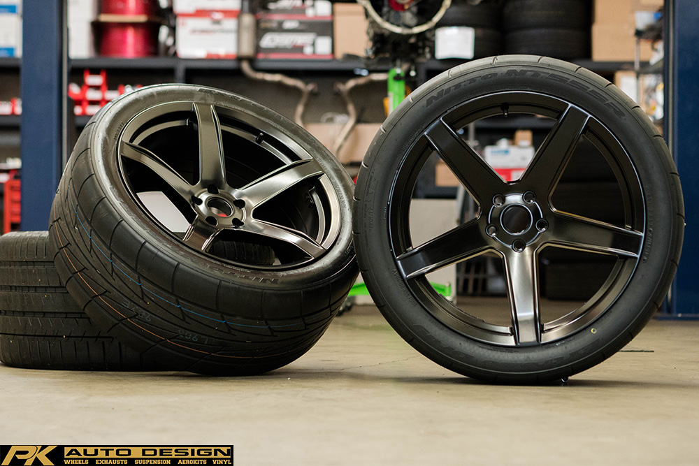 HR5 HELLRASIER EDITION SATIN BLACK ROTORY FORGED CONCAVE HELLCAT REPLICA WHEELS 5