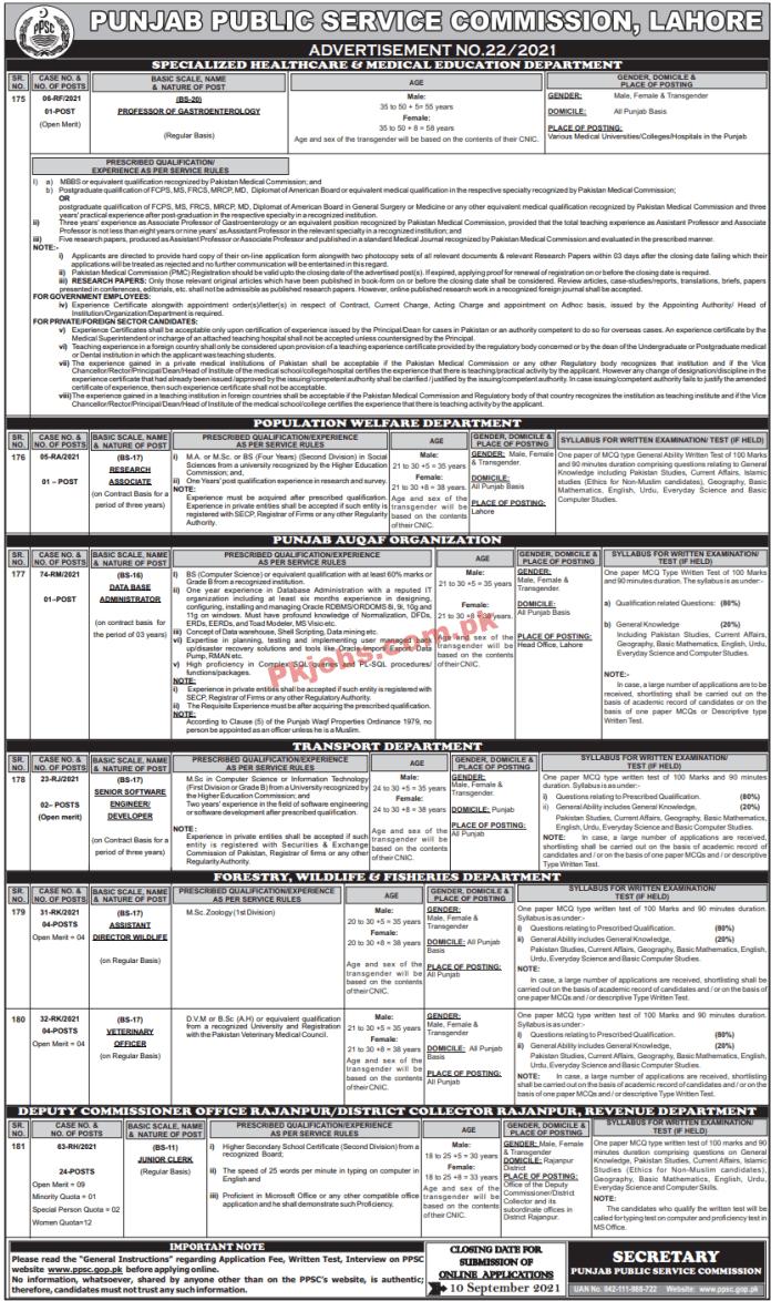 Ppsc Pk Jobs 2021   Jobs In Ppsc   Public