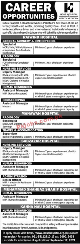 Jobs In Indus Hospital