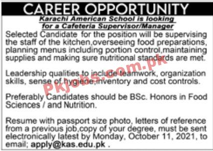 Jobs In Karachi American School