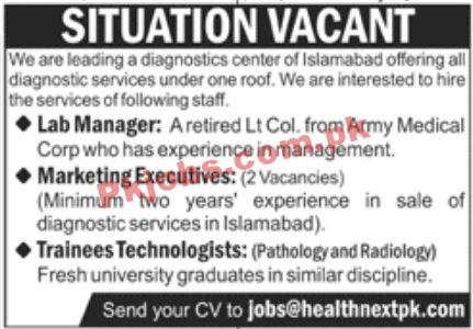 Jobs In Leading Diagnostics Center
