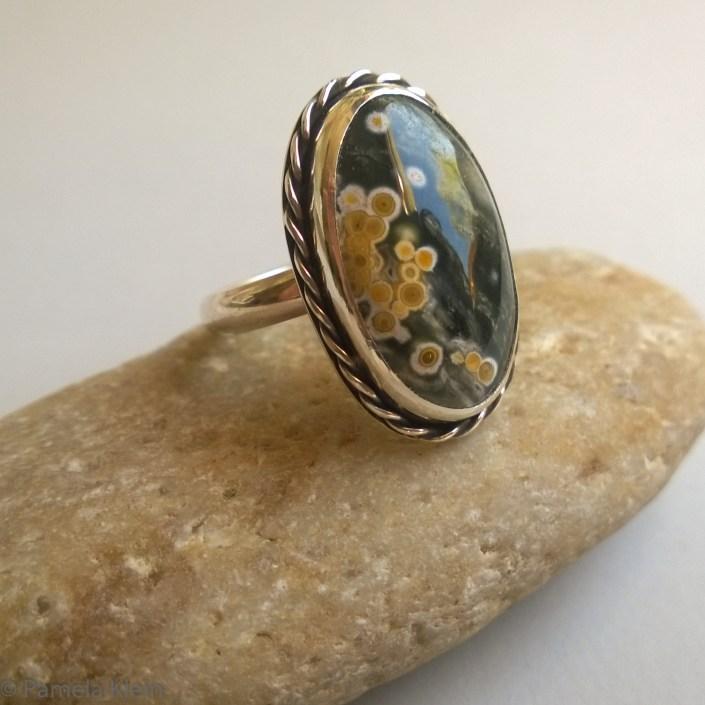 Ocean Jasper Ring with Twist