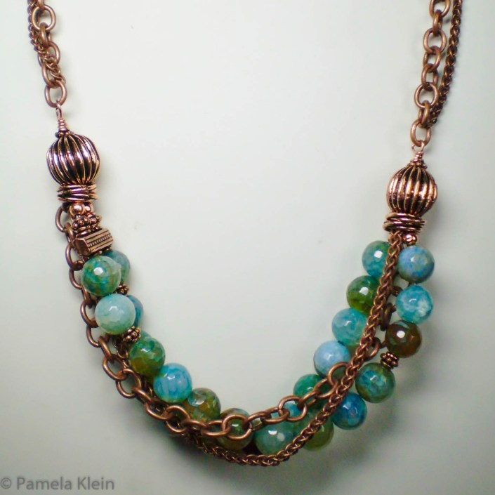Copper & Agate Chain Necklace