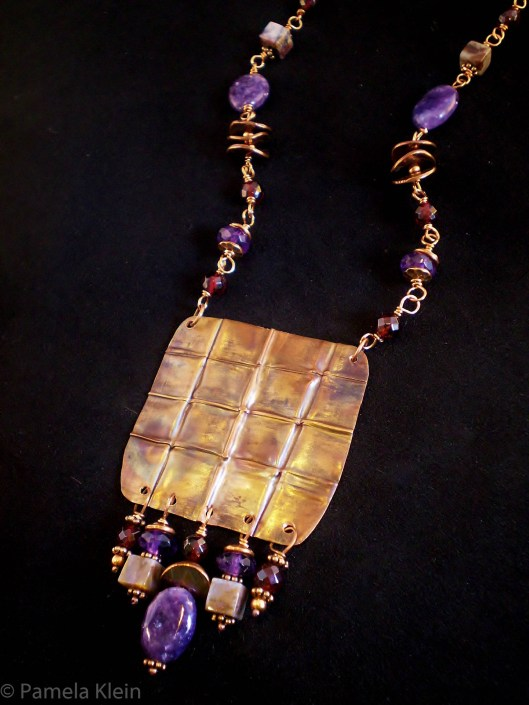 Folded Copper Necklace