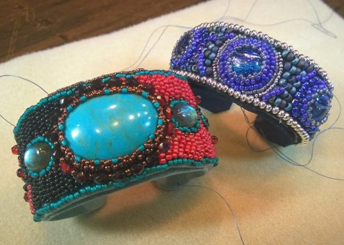Bead Emboidered Cuffs