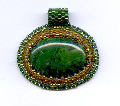 Bead Embroidered Cabochon