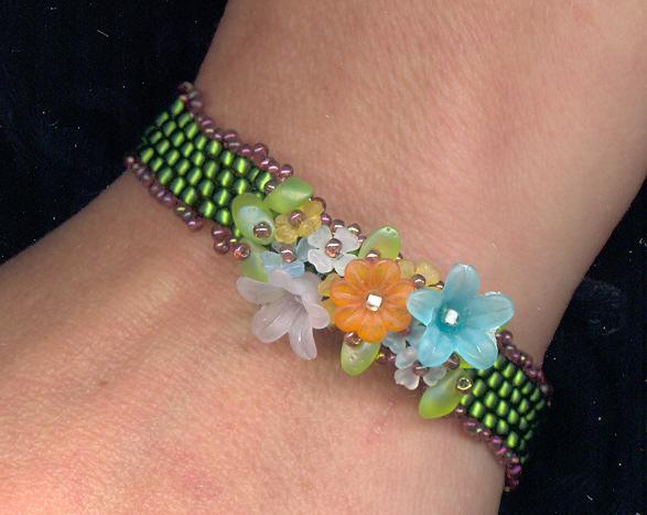 Beaded Bouquet Bracelet