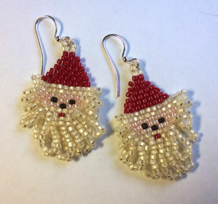 Santa Face Earrings
