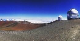 telescopes and observatories on top of 14,000 foot dormant volcanoe.