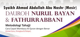 (Bahasa Indonesia) Daurah Nurul Bayan dan Fathurrabbani