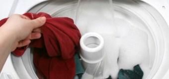 Mencuci Pakaian Bernajis Menggunakan Mesin Cuci