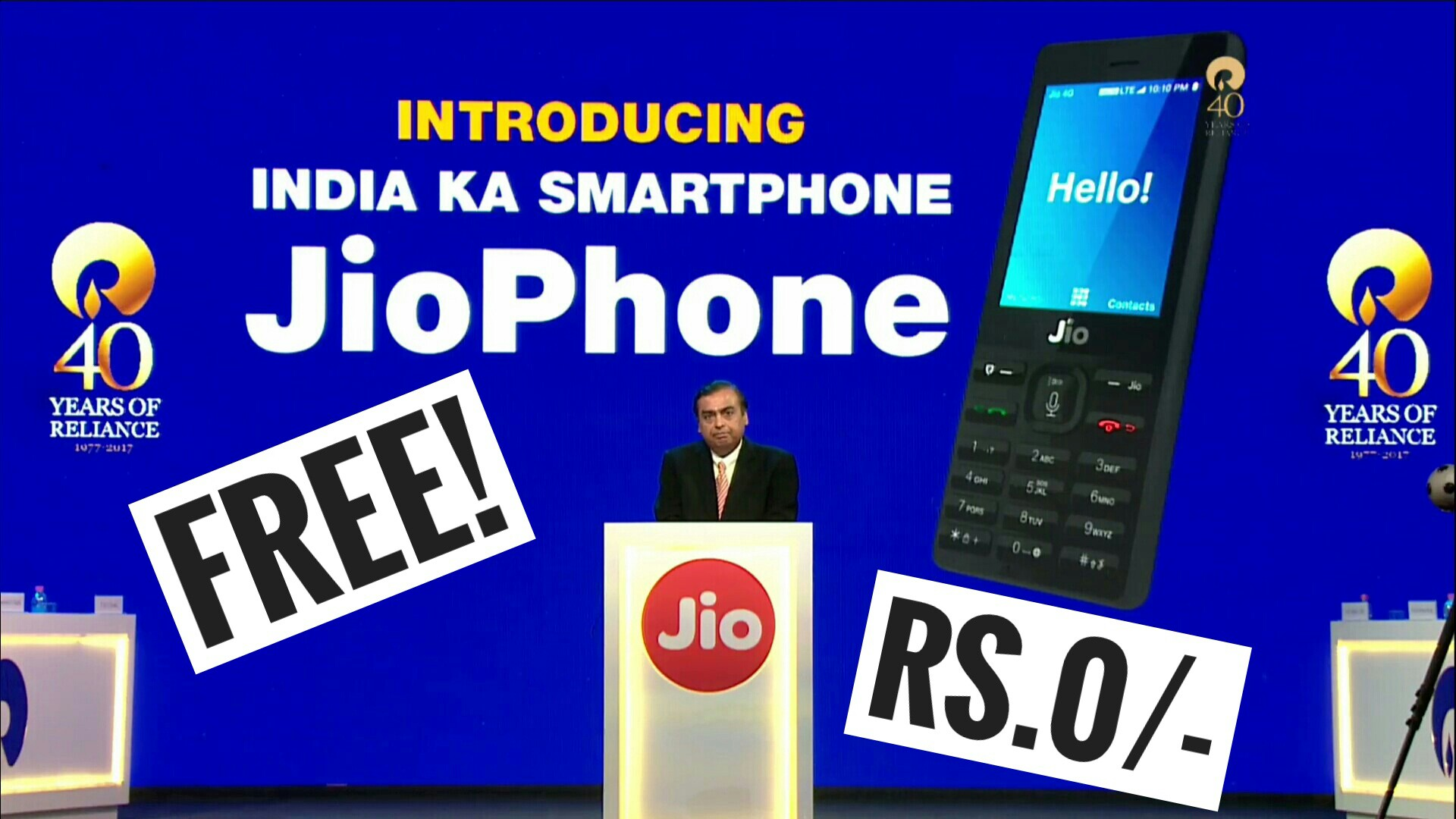 JioPhone Launched in India for Free | Know Everything About It