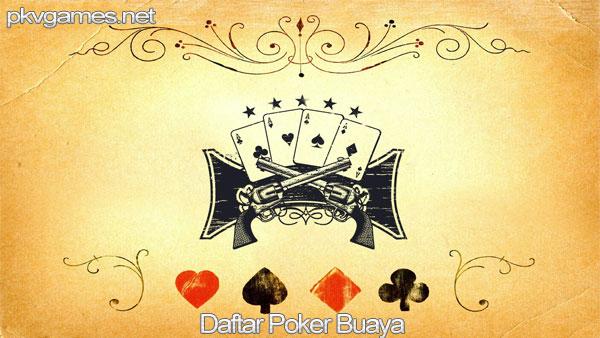 Daftar Poker Buaya
