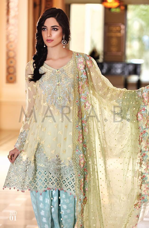 Embroidered Eid Chiffon Collection By Maria B 2016