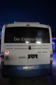 Elektrobus SOR EBN 8 von hinten