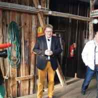 Thomas Flemming und Steffen Hahlweg beim ebb-Dreh zur Hertha