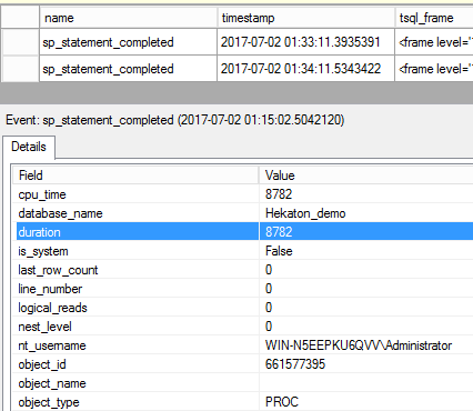 NativeStoredProceduresMonitoring