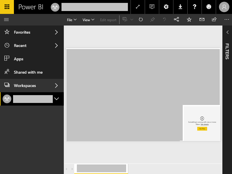 Power BI Visual Error Screnshot
