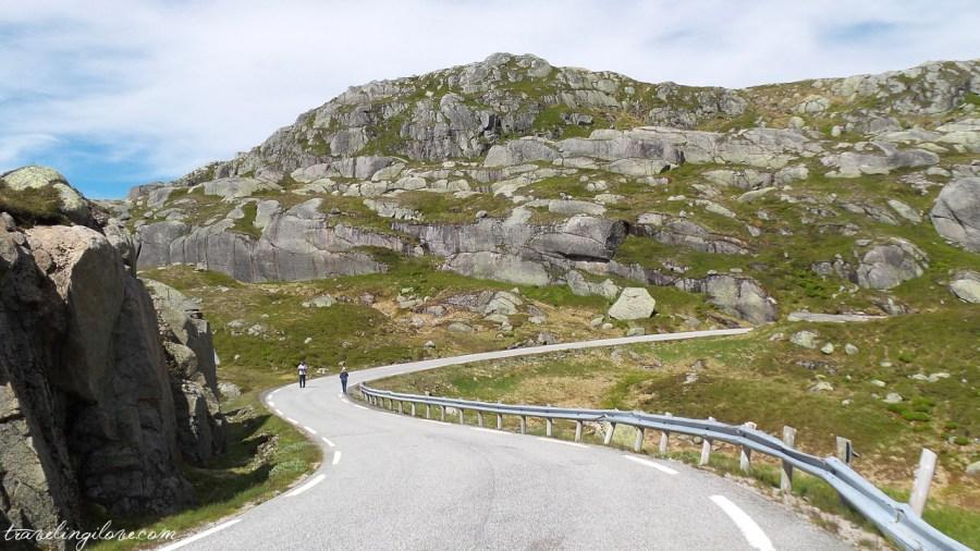 Kręte drogi Norwegii w drodze na Kjerag