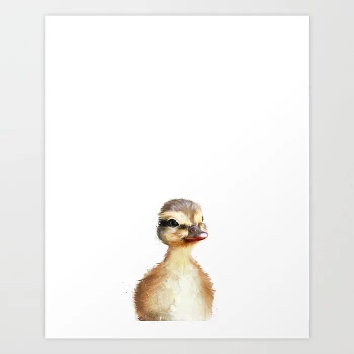 Sunday's Society6 | Little animal duck art print