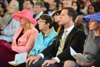 Premier Rutte en staatssecretarissen.