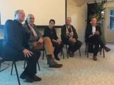 VvB, november 2017, paneldiscussie, vlnr Han de Wit, Matthijs Schouten, Wanda Sluijter, Tenkei Koppens en André Kalden. Foto Babeth VanLoo.