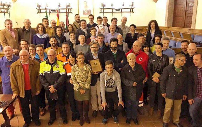 Imagen de grupo celebrando la concesión de la Real Orden al Mérito Deportivo
