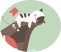 Graphic of cute sleeping cat