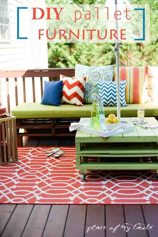 diy pallet furniture | a patio makeover