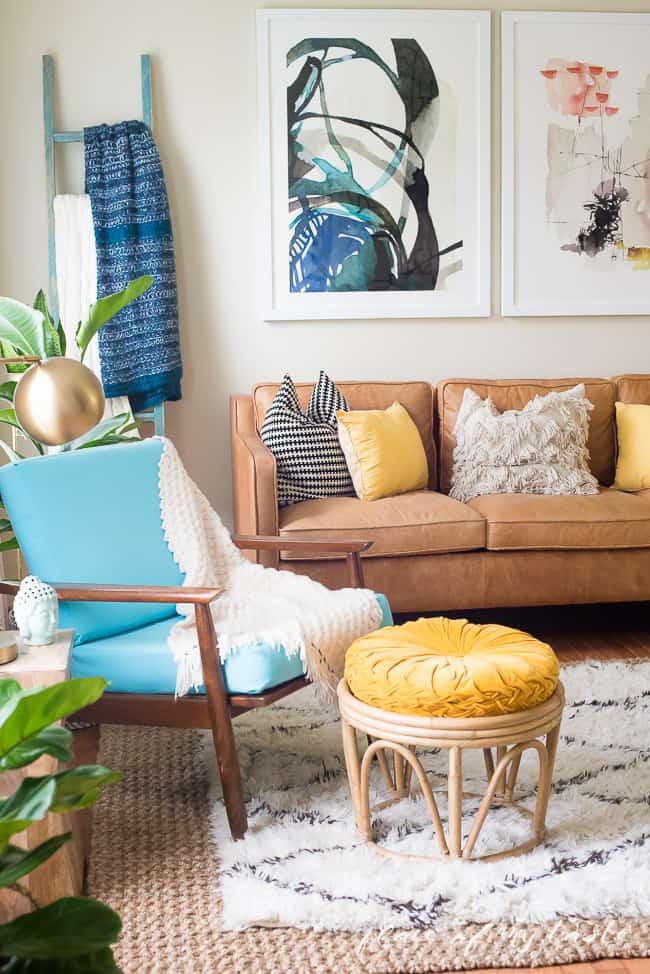 FUN AND BRIGHT BOHO LIVING ROOM DECOR on Fun Living Room Ideas  id=51261