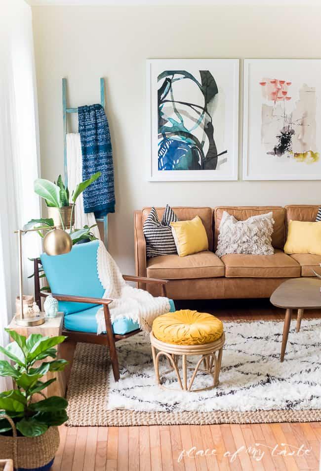 FUN AND BRIGHT BOHO LIVING ROOM DECOR on Fun Living Room Ideas  id=51438