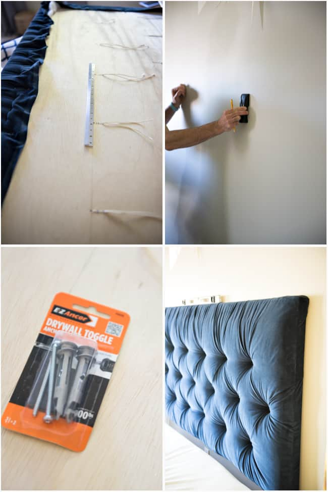 Tufted headboard   how to make it own your own tutorial 7