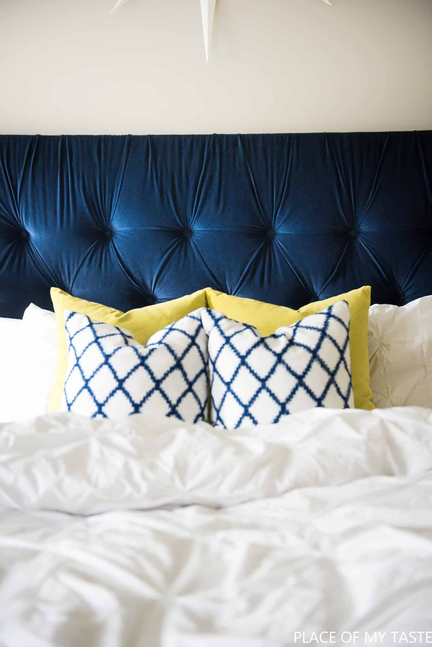 Tufted headboard   how to make it own your own tutorial tufted headboard  1 of 1  2