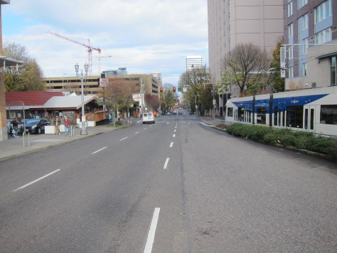 Overly wide one-way downtown streets